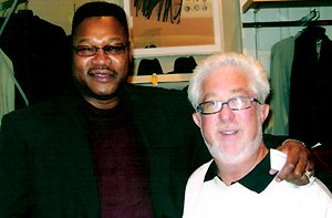 Louis with The Champ, Larry Holmes